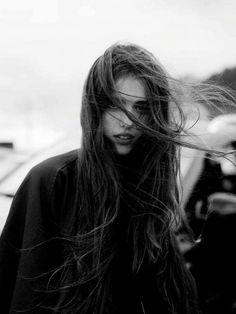 portrait 〰 margaret qualley (b. Dark Photography, Beauty Photography, Amazing Photography, Portrait Photography, Wind Blown Hair, Margaret Qualley, Long Dark Hair, Natural Hair Styles, Long Hair Styles