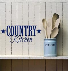Country Kitchen -  Vinyl decal-Vinyl Lettering wall words graphics Home decor itswritteninvinyl.