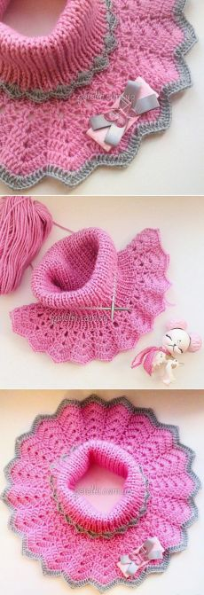 42 Ideas for crochet patterns free women jackets collars Crochet Blanket Edging, Crochet Poncho, Crochet Patterns Free Women, Knitting Patterns, Crochet For Kids, Easy Crochet, Fingerless Gloves Crochet Pattern, Diy Headband, Crochet Clothes