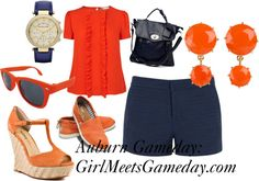 """Auburn University Gameday Outfit"" dress up for game day"