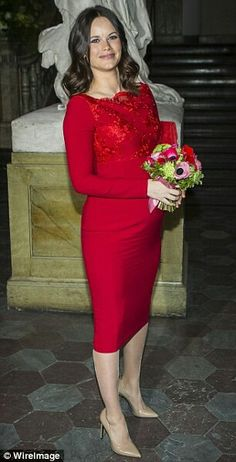 Sofia At The Annual Formal Meeting Of Royal Swedish Academy.