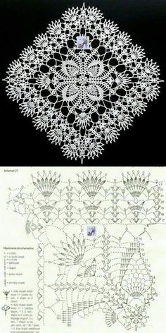 Free Crochet Doily Patterns, Crochet Snowflake Pattern, Crochet Doily Diagram, Crochet Flower Tutorial, Crochet Lace Edging, Crochet Chart, Thread Crochet, Crochet Hammock, Crochet Patron