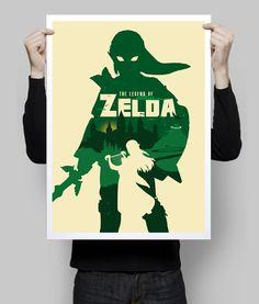 Alternative Zelda videogame poster art digital print. #art #poster #artwork #zelda #etsy #goldenplanet #wallart #posterart #zeldaposter