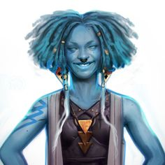 Ohhh boy, starting a new game soon and I got to make a character! I made a Air Genasi Trophy hunting Ranger named Zephyr, shes super rad Also of course, Patrons get to see the work in progress for the images I throw up online every Dungeons And Dragons Characters, Dnd Characters, Fantasy Characters, Female Characters, Fantasy Character Design, Character Design Inspiration, Character Concept, Alien Character, Character Art