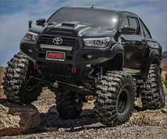 Would you trade your Toyota for this monster ? Toyota Pickup 4x4, Toyota Trucks, 4x4 Trucks, Diesel Trucks, Cool Trucks, Dodge Diesel, Truck Mods, Toyota Hilux, Toyota Tacoma 4x4