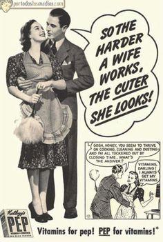mientras más duro trabaja una esposa, mejor se ve...