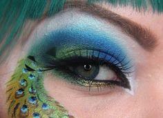 Peacock makeup :D