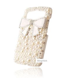 Bowknot pearl crystal cover cell phone case for HTC Desire HD (G10) /Inspire 4G