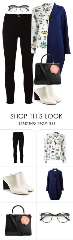 """""""Untitled #1709"""" by rowan-asha ❤ liked on Polyvore featuring Frame, Boutique Moschino, Maison Margiela and Gianluca Capannolo"""