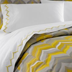 Yellow Flame bedding collection, by Jonathan Adler