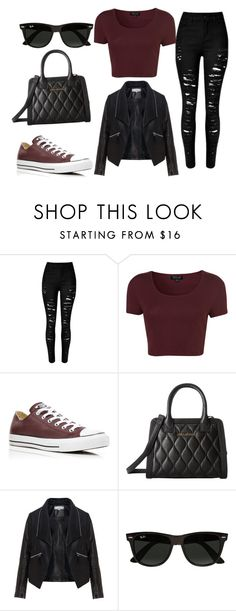 """Untitled #9"" by lillyrya on Polyvore featuring Topshop, Converse, Vera Bradley, Zizzi, Ray-Ban, women's clothing, women, female, woman and misses"