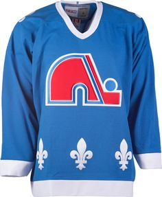 d98633602bf Quebec Nordiques CCM Vintage 1992 Air Force Blue Replica NHL Hockey Jersey