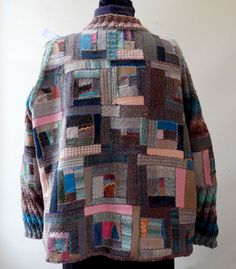 Patchwork jacket: Cindy Hoppe Wearables