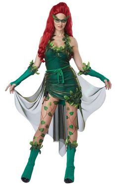 Become beautiful but lethal in this sexy Poison Ivy fancy dress costume. Deluxe women's Poison Ivy fancy dress costume by California Costumes. Become a DC comics super villain in this sexy Poison Ivy costume. See below for full description and size details.