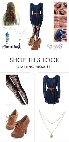 """""""Ravenclaw #7"""" by undeaddemon18 ❤ liked on Polyvore featuring Rare London, Lipsy, OPI, Sephora Collection, cute, DateNight and harrypotter"""