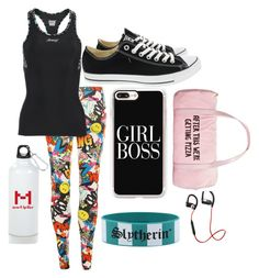 """Work out"" by youtubegirl777 on Polyvore featuring WearAll, Zoot, Converse, Casetify, Warner Bros., New Balance and ban.do"