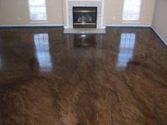 stained concrete flooring for kitchen and bathrooms