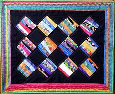 SALE Art Quilt Wall Hanging Beautiful Scraps by MoranArtandQuilts, $50.00
