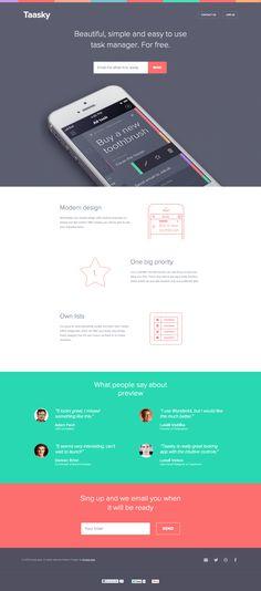Unique Web Design, Taasky via @GreysonSofia #Web #Design #App
