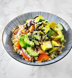 Fuss Free Cooking | [Recipe] Smoked Salmon, Avocado and Brown Rice Sushi Bowl | http://www.fussfreecooking.com