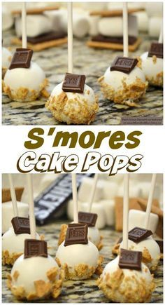 S'mores Cake Pops Tutorial & Recipe - a delicious dessert for a party! Mini Desserts, Just Desserts, Delicious Desserts, Yummy Food, Party Desserts, Dessert Party, Health Desserts, Dessert Ideas For Party, Ideas Party