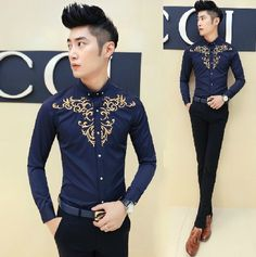 Find More Casual Shirts Information about Aliexpress Retail New Arrival Chinese Embroidery Shirt Vintage Prom Party Wear Free Shipping,High Quality shirt flannel,China wear glow dark party Suppliers, Cheap wear jean jacket men from HOTI STYLE on Aliexpress.com