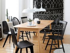Mismatched chairs around the table – Joli Place Source by Decor, Dining Table, Table, Chair, Table And Chairs, Wooden Chair, Wooden Tables, Dining Chairs, Painted Wooden Chairs