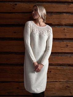 Free Knitting Pattern for a Women& Lace Yoke Dress. - Free Knitting Pattern for a Women& Lace Yoke Dress. Knit Dress, Dress Skirt, Lace Dress, Lace Knitting, Knitting Patterns, Knitting Dress Pattern, Pulls, Dress Patterns, Sweaters For Women