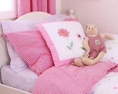 Ginghams Hot Pink Duvet Set (Junior)