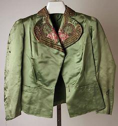 Evening jacket  Elsa Schiaparelli  (Italian, 1890–1973)    Date:      1933–37  Culture:      French  Medium:      silk, metallic thread, glass