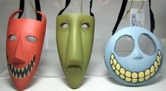 lock shock and barrel masks these are so neat! mini masks would be pretty sweet as christmas tree decorations.