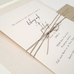 Image of Simplicity wedding invitation