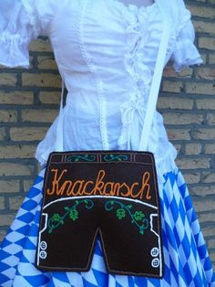 "Oktoberfest Dirndl-Tasche  Lederhose  ""Knackarsch"" von Jana´s Hüttenwerk auf DaWanda.com"
