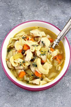 Instant Pot Chicken Noodle Soup Recipe Card