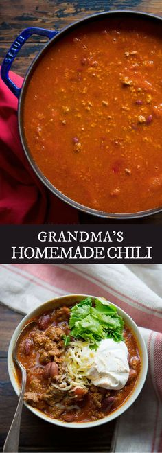 Grandmas Homemade Chili Your Ultimate Comfort Food This Winter You'll Gonna Left Everyone Happy And Satisfied Check Us Out For More Healthy Homemade Cooking, Easy Homesteading Recipes And Easy Dinner Recipes You Can Do At Home.