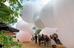 BIG creates inflatable pavilion at Roskilde Music Festival.
