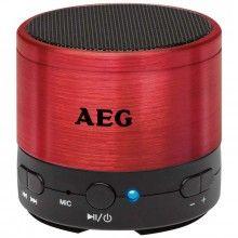 Altavoz bluetooth AEG BSS 4826 rojo en #Crilanda