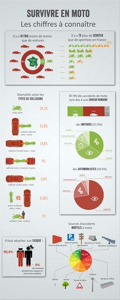 Le motard : une espèce en danger - https://www.francecasse.fr/blog/accidentologie-des-2-roues-moto/  #moto #accidents #data #infographique