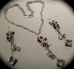 Beautiful Cluster of Beads Handmade Jewelry Set by SynasCollection, $85.00