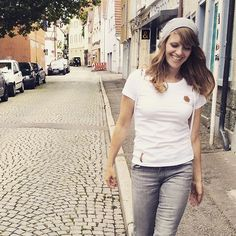 favorite white T! with grey hoodie blaccbird - fashion made in Reutlingen