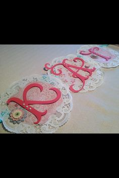 A doilie occasion- Christening Banner