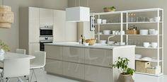 METOD VOXTORP high gloss beige, IKEA Kitchen