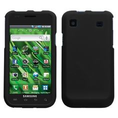 Rubber Black Hard Case Cover Samsung Galaxy S 4G T959V - USD $ 9.36