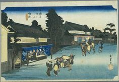 Hiroshige - The Fifty-three Stations of the Tōkaidō 40th station : Narumi