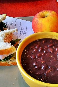 Panera Bread Black Bean Soup Recipe! Nom Nom i could really use a bowl of this today... and everyday of my life
