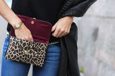 The Fashioneaters Blogger + Hipsters for Sisters Leopard Flat Belt Bag #fannypack #waistbag