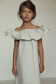 Kids fashion - 13058 - EVANGELINE DRESS - RAIN WASHED