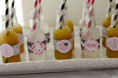 Adorable drink ideas found in Pink Paris Party via Kara's Party Ideas   KarasPartyIdeas.com #pink #paris #party #planning #ideas #supplies #drinks