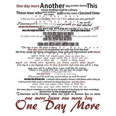 One Day More... this makes me happy beyond words!