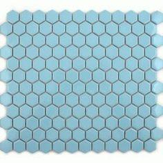 Sky Blue Hexagonal Zoro Mosaics Tiles Swimming Pool Tiles